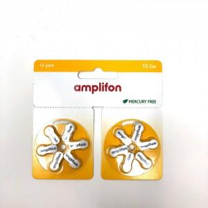 AMPLIFON Pila 10 Zas Mercury Free 12 pezzi
