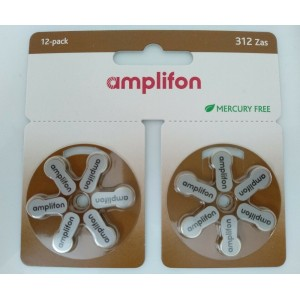 AMPLIFON Pila 312 Zas Mercury Free 12 pezzi