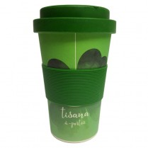 BAMBOO MUG WATERCOL quadrifoglio verde portafortuna