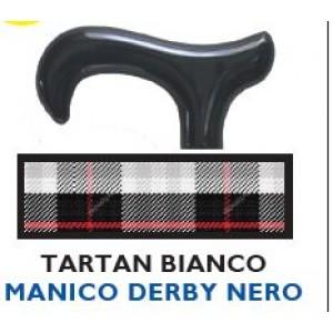BASTONE DERBY TARTAN BIANCO