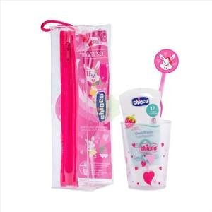 Chicco SET IGIENE ORALE bambina con spazzolino, bicchierino e dentifricio  36M+