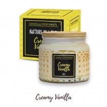 CANDELA profumata CREAMY VANILLA gialla
