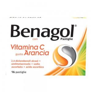 BENAGOL VIT C*16PAST ARANCIA
